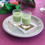 Limoncello pistachio shots