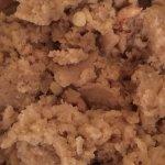Brown sugar sweetness, added to coarse roasted Semolina & nuts , we call this Soojee Halwa