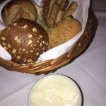 Amazing bread basket with creamy butter.