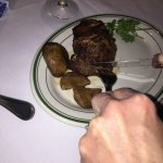 Dry aged filet with mushrooms