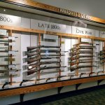 The weapons were arranged chronologically...very easy to examine. Just fabulous!