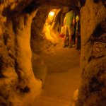 The amazing networking of tunnels that lead from one compartment into another.... stairways and