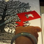 Paper cutting stall