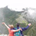 Looking down at Machu Pichhu from Huayna Picchu