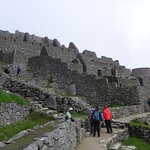 Walking around Machu Picchu