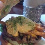 Inside of California burger.