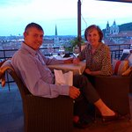 Dinner at the Golden Well Hotel Terrace Restaurant in Prague