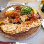 Meat souvlaki - more yum yum yum....