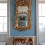 One of the beautiful Chinese Mirrors that adorn the walls of the withdrawing room in the palace.