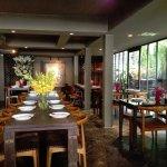 Menu and atmosphere look good. The restaurant is trendy