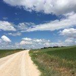 The wide open spaces of the Alta Meseta near Burgos, Spain