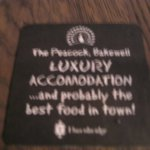 A mis-spelled beer mat (sorry it's a bit fuzzy)