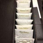 Pillow tester menu