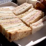 Selection of afternoon tea sandwiches