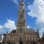 Bruges' Belfort, with its soaring bell tower