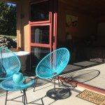 Fantail Chalet patio