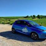 Electric car and vineyard :)