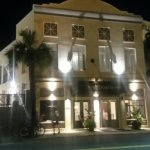 King Charles inn at night