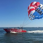 Parasailing in our American Flag on July 4th!