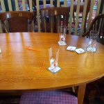 15:30 on a Friday afternoon, pub is empty... and tables STILL not cleared