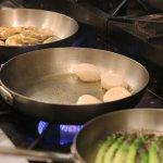 Jumbo Prawns, Scallops & Asparagus