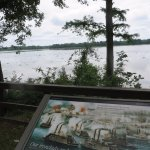 Overlook of Fort Hindman which is underwater today.