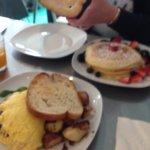 Lemon Ricotta Pancakes and Mushroom and Arugula Omlete