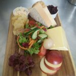 Mature cheddar ploughman's, home made coleslaw & chutney
