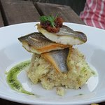 Sea Bass with crab rissoto