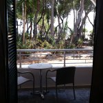 View from Room 105 - St Nicholas Beach beyond the trees