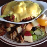 Avocado Eggs Benedict—very tasty!