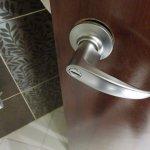 Bathroom door handle coming off