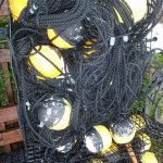 Pots, nets and other fishing gear at Key Largo Fishers.