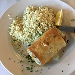 Spanakopita with Rice Pilaf