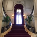 Heart-shaped staircase at Rosecliff mansion