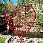 Love Heart statue for your lock at creekside