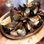Cast Iron Grilled Mussels