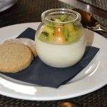 This Malibu coconut pannacotta was delicate and delicious.