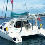 Wyuna, our newly purchased 47' catamaran