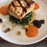 Atlantic Swordfish (served with crispy polenta, local shiitake & trumpet mushrooms, swiss chard)
