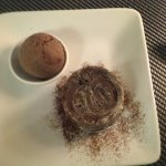 Molten Chocolate cake with ice cream