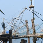 Close-up of the Chinese fishing nets