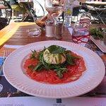 Mozzarella rocket bouf capacio salad