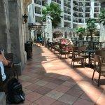 Plaza seating