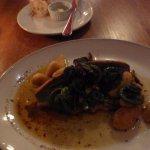 Brasserie L'Ecole-trout, semolina gnocchi, fiddleheads, schinkenspeck, brown butter
