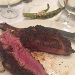 Steak cooked to perfect medium