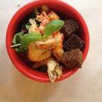 Flußkrebse als Gruß aus der Küche, Zander mit Rote Beete-Schaum und Iberico-Schwein mit Spitzkoh