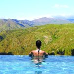 Our infinity pool offers breathtaking views of the Palomar Mountain Range