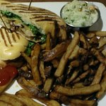 Chicken Panini with fries and coleslaw