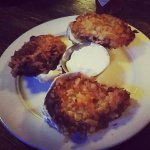 Fried oysters. They were huge.